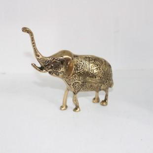 آنتیک مجسمه  فیل طلایی
