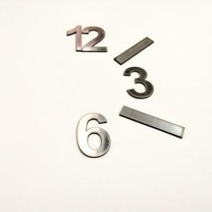 اعداد ساعت لاتین نقره ای باریک