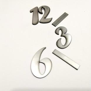 اعداد ساعت لاتین نقره ای