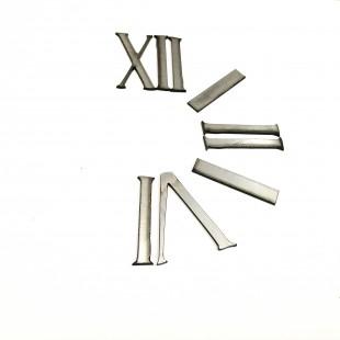اعداد ساعت یونانی نقره ای