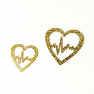 نماد طلایی قلب کد  15