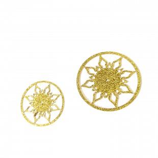 نماد طلایی  گل قاصدک کد 24