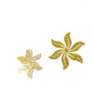 نماد طلایی گل شش پر کد   26