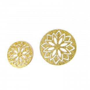 نماد طلایی گل لیسیانتوس   30