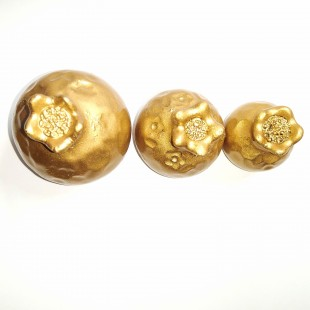 آنتیک مجسمه انار رزین طلایی 020     (باقابلیت رنگ پذیری)