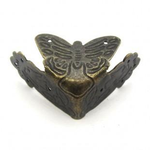گوشه لبه دارزیتونی طرح پروانه 191
