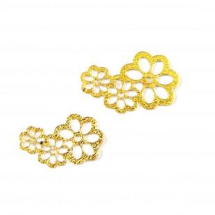 نماد طلایی گل سه تکه 56