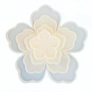 قالب سیلیکونی سری کامل گل پنج پر کد359