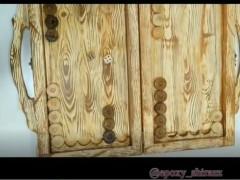 آموزش طرح چوب روی وسایل رزین اپوکسی