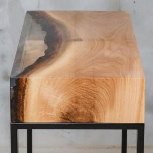 رزین اپوکسی OZ رقیق شفاف قالب چوبی