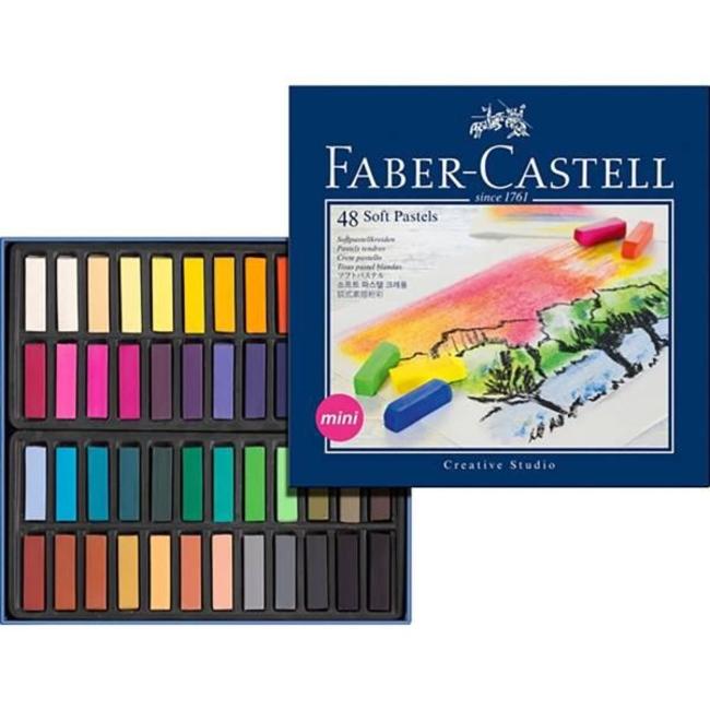 پاستل گچی 48 رنگ فابر کاستل سری Creative Studio مدل Studio Quality