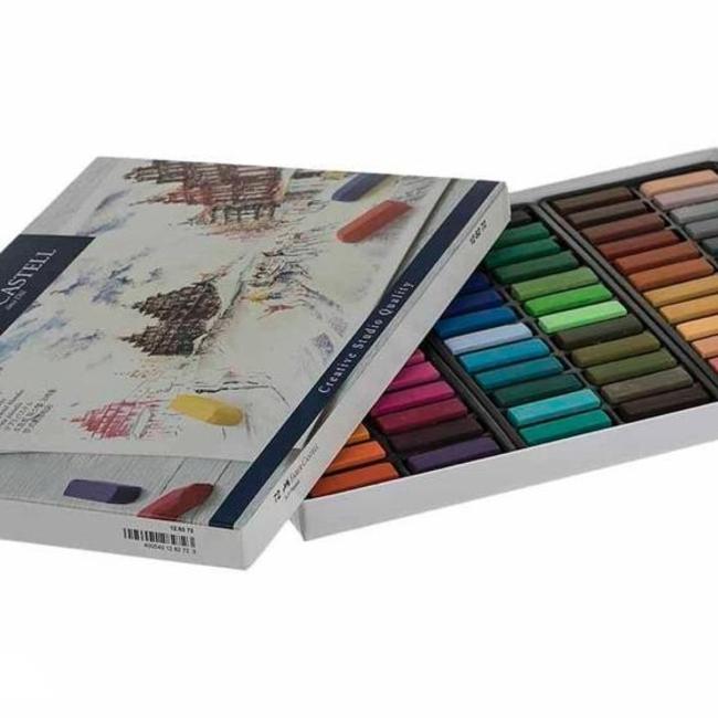 پاستل گچی 72 رنگ فابر کاستل سری Creative Studio مدل Studio Quality