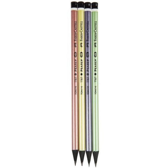 مداد مشکی فابر کاستل مدل pearly - بسته 4 عددی