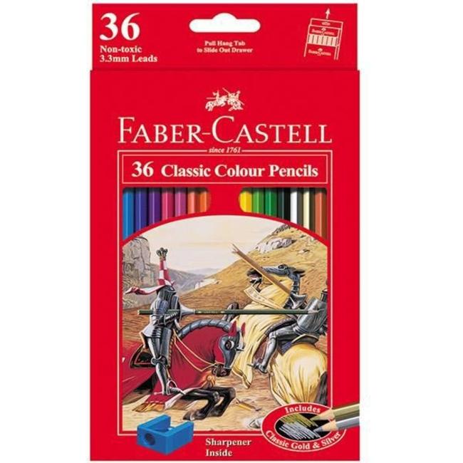 مداد رنگی 36 رنگ فابر کاستل مدل کلاسیک