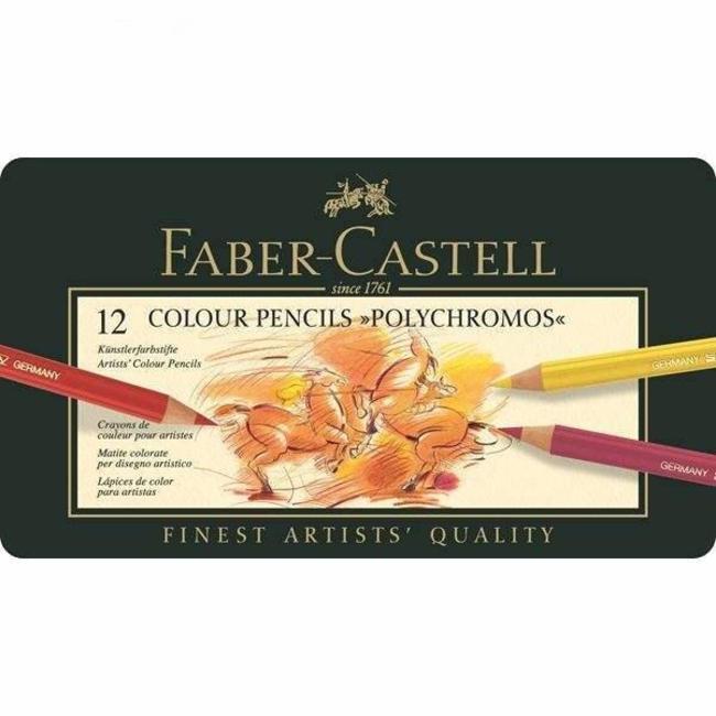 مداد رنگی 12 رنگ پلی کروم فابر کاستل