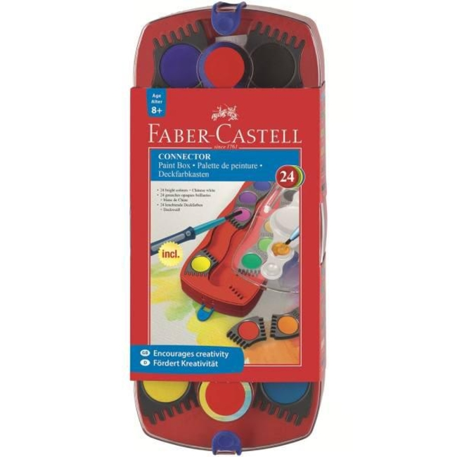 آبرنگ 24 رنگ فابر کاستل مدل Connector