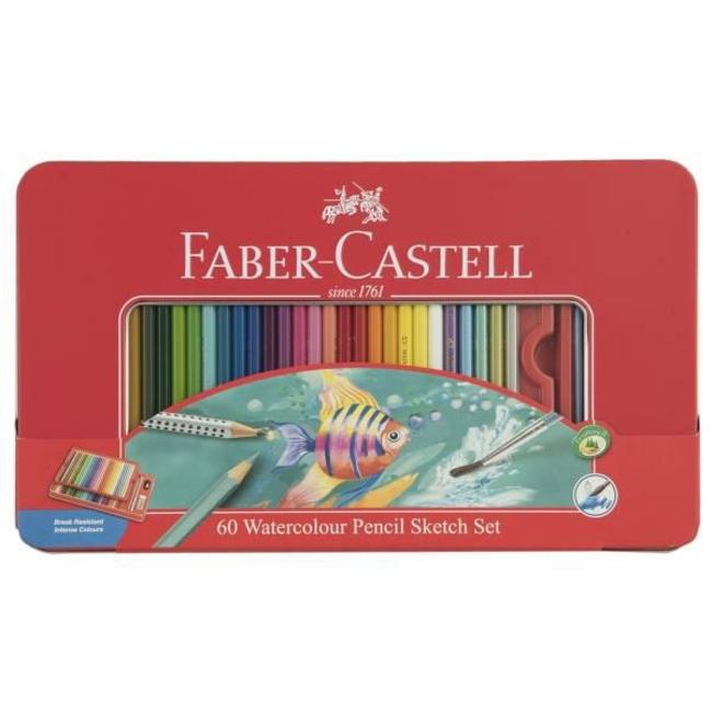 مداد آبرنگی 60 رنگ فابر کاستل مدل Sketch