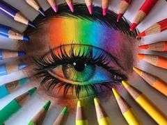 تکنیک بلندینگ و لایه بندی در نقاشی مداد رنگی