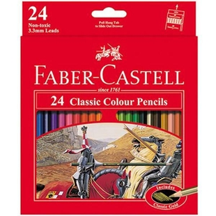 مداد رنگی 24 رنگ فابر کاستل مدل کلاسیک