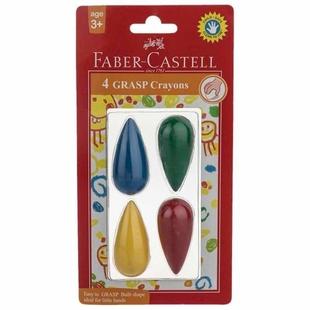 مداد شمعی 4 رنگ فابر کاستل مدل لامپی