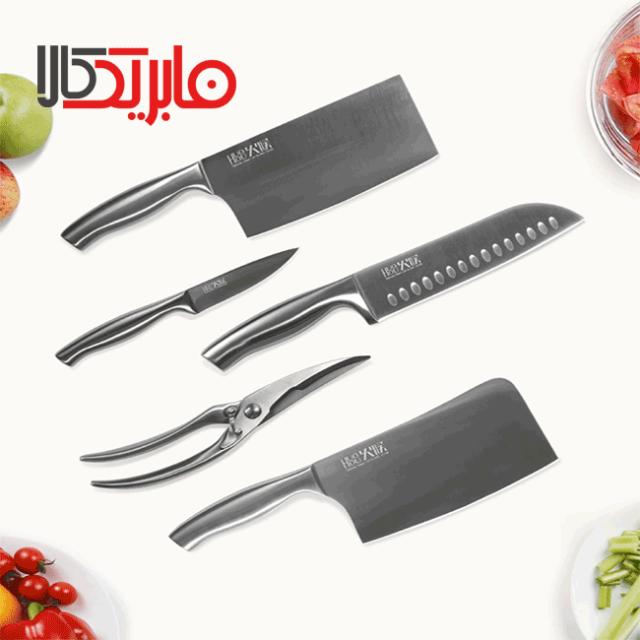 ست چاقو 5 عددی استیل ضد زنگ شیائومی Mijia مدل HU0014