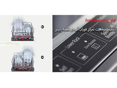 تکنولوژی Zone Booster شستشوی هدفمند ظروف با پوشش فراگیر