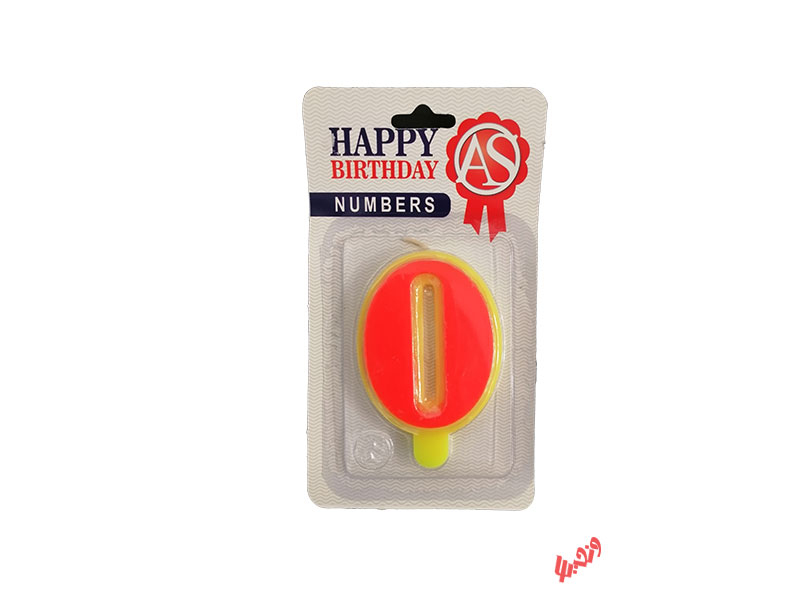 شمع تولد آس مدل عدد 0