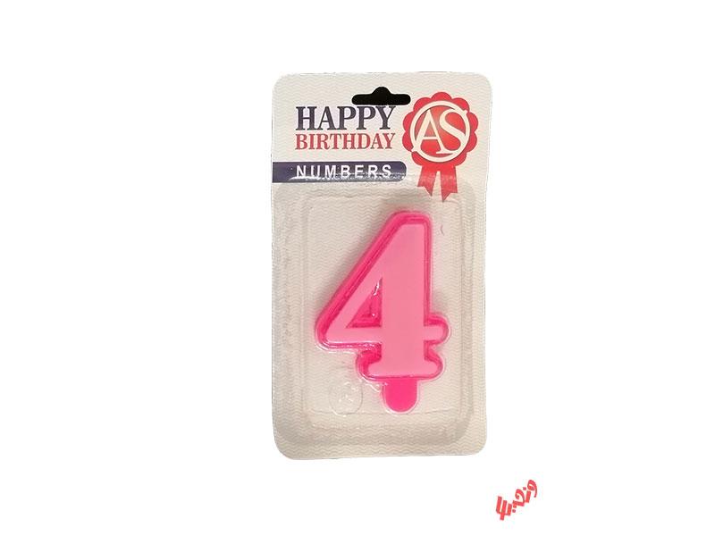 شمع تولد آس مدل عدد 4