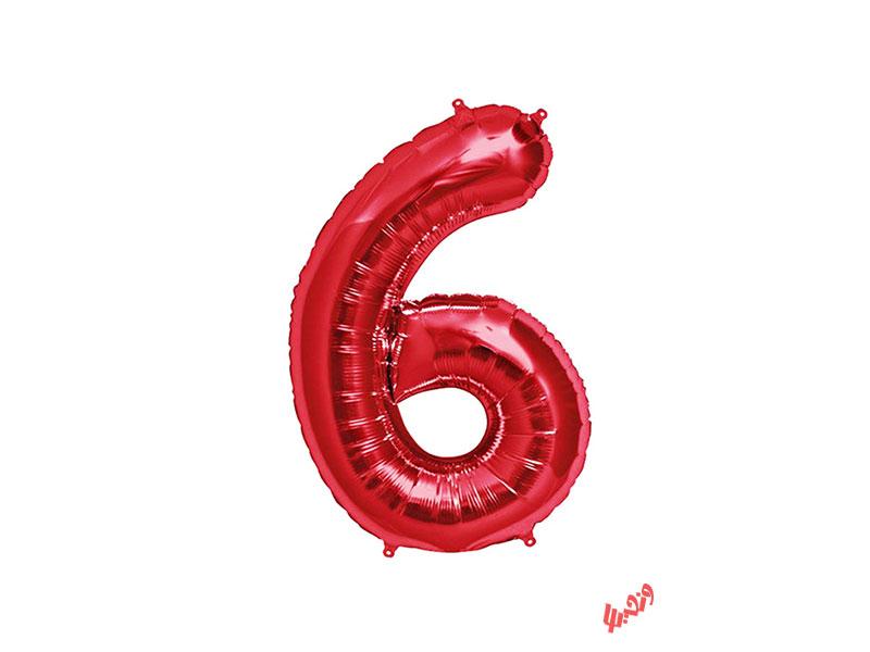 بادکنک تولد مدل عدد 6 فویلی