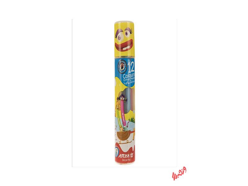 مداد رنگی 12 رنگ آریا استوانه ای