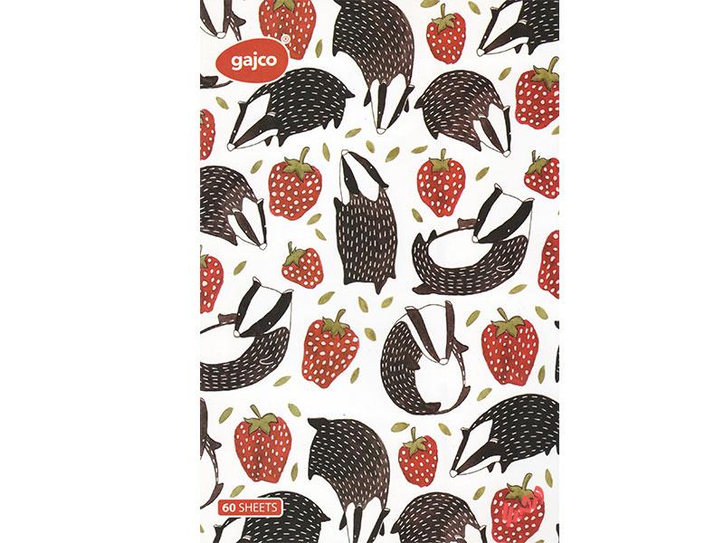 دفتر شکلاتی 60 برگ گاجکو طرح راسو و رویای توت فرنگی