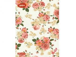 دفتر شکلاتی 100 برگ گاجکو طرح گل گلاب