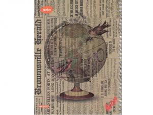دفتر سیمی 80 برگ گاجکو طرح کره زمین