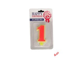 شمع تولد آس مدل عدد 1