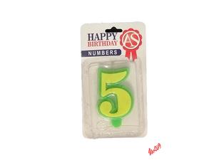 شمع تولد آس مدل عدد 5