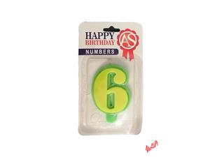 شمع تولد آس مدل عدد 6