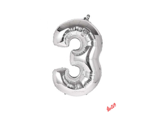 بادکنک تولد مدل عدد 3 فویلی