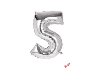 بادکنک تولد مدل عدد 5 فویلی