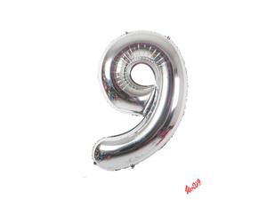 بادکنک تولد مدل عدد 9 فویلی