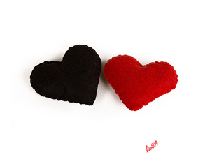 قلب نمدی 10 * 8