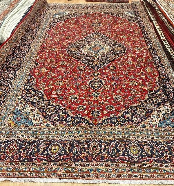 فرش دستبافت کاشان _ابعاد:410*300