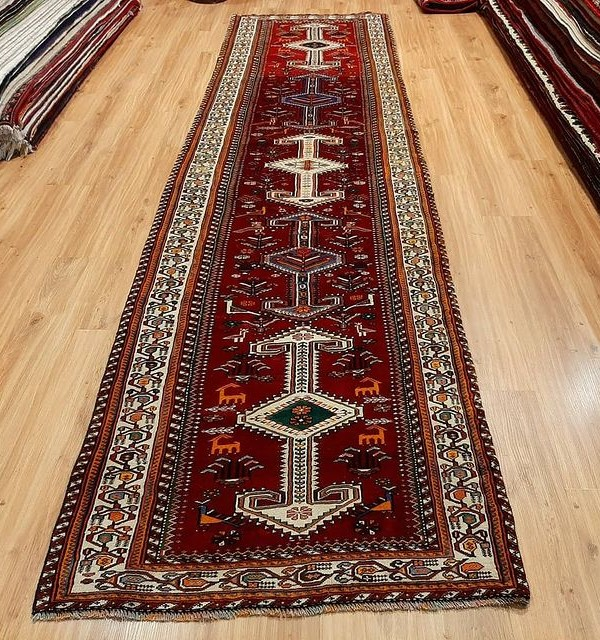 فرش دستبافت شیراز_ابعاد:390*105