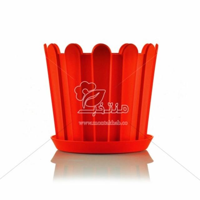 گلدان پلاستیکی حصاری ارتفاع 18 سانتی متر