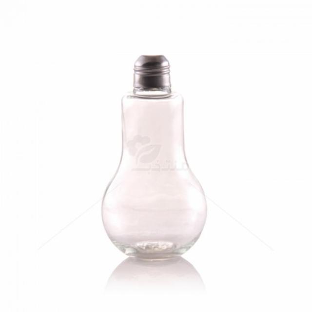 گلدان شیشه ای طرح لامپ ارتفاع 15 سانتی متر