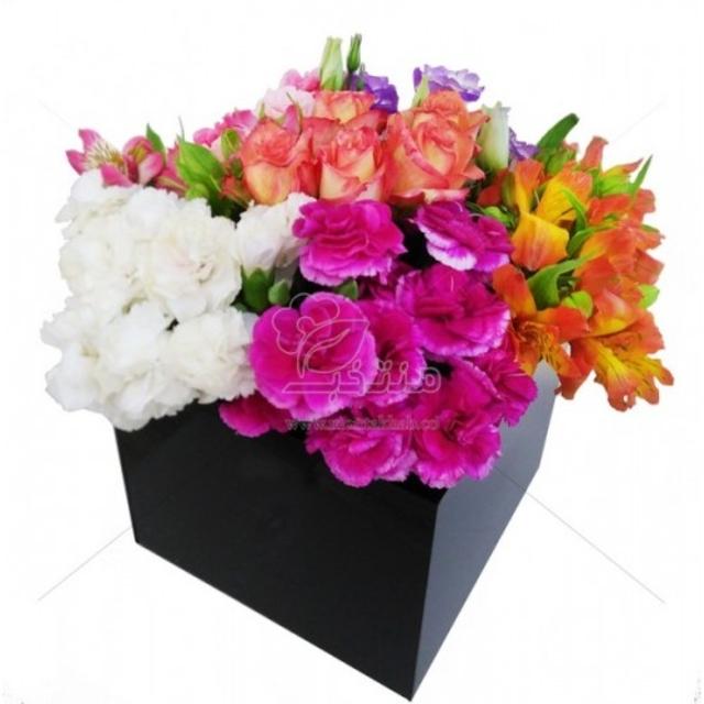 باکس گل ترکیبی سایز طول و عرض 20 سانتیمتر