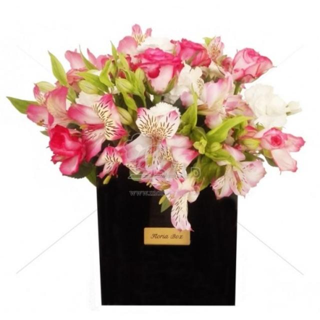 باکس گل طرح بهاری سایز 15 در 15 سانتیمتر