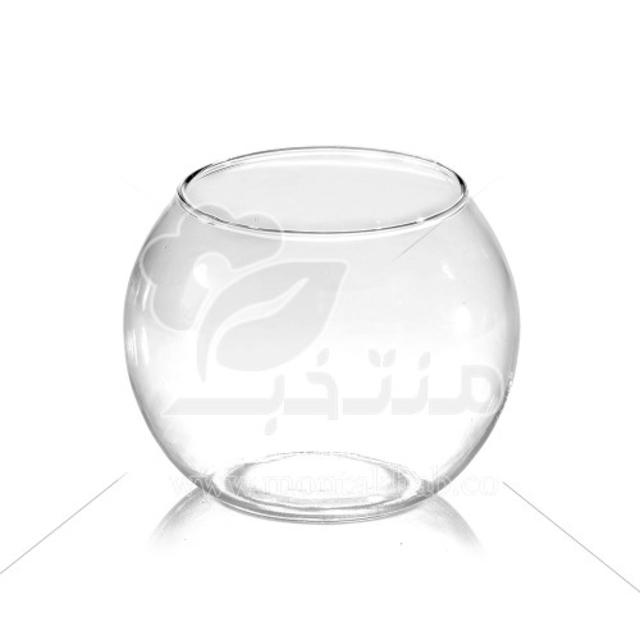 گلدان شیشه ای ساده تراریوم 15 سانتی متری (سایز 2)