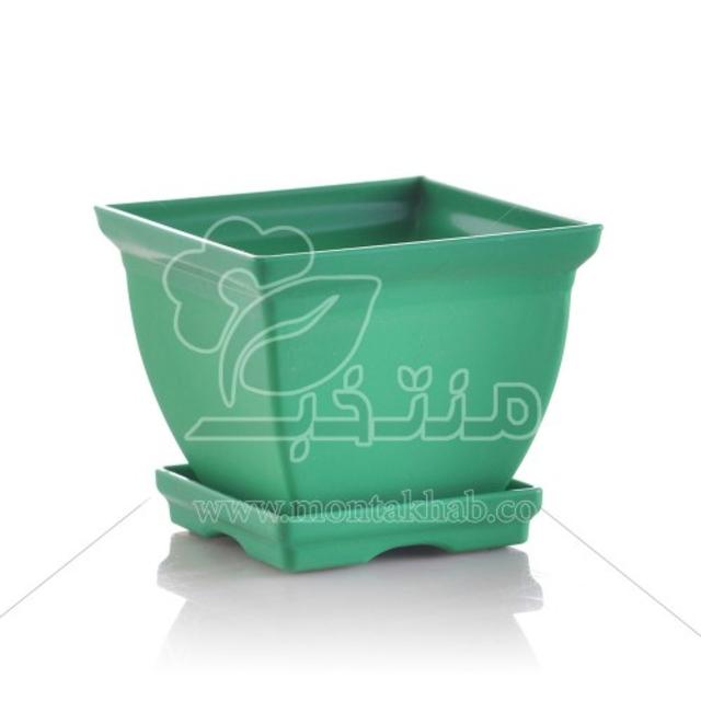 گلدان پلاستیکی مربع مدل 7012 ارتفاع 10 سانتی متر