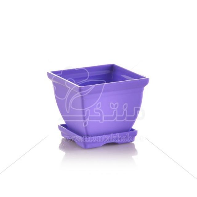 گلدان پلاستیکی مربع مدل 7006 ارتفاع 5 سانتی متر
