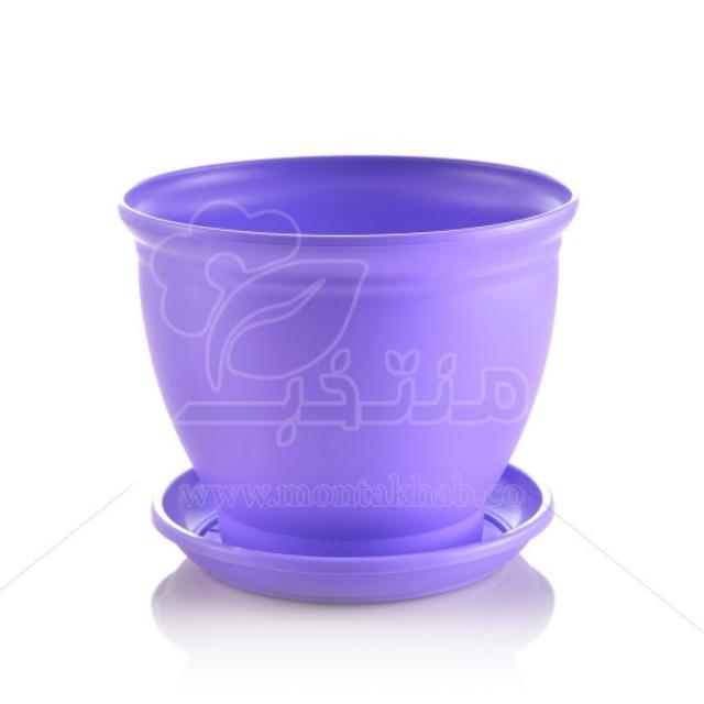 گلدان پلاستیکی مدل 3017 ارتفاع 14 سانتیمتر